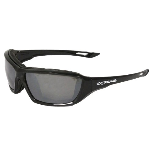 Radians Silver Mirror Safety Glasses, Anti-Fog, Foam Lined