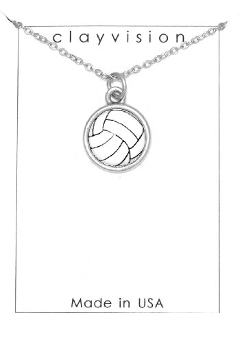 Clayvision Color Water Polo Ball Charm on a Necklace
