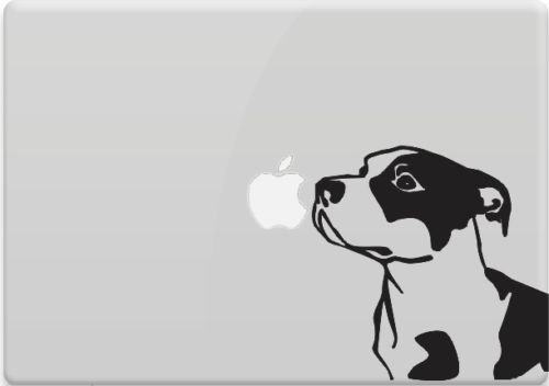 Price comparison product image Pitbull Vinyl Decal Sticker Skin for Apple MacBook Pro Air Mac Air,  Die cut vinyl decal for windows,  cars,  trucks,  tool boxes,  laptops,  MacBook - virtually any hard,  smooth surface