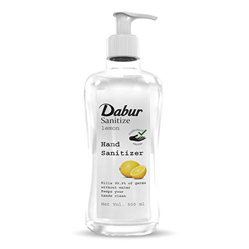 Dabur Sanitize Hand Sanitizer| Alcohol Based Sanitizer (Lemon) – 500 ml