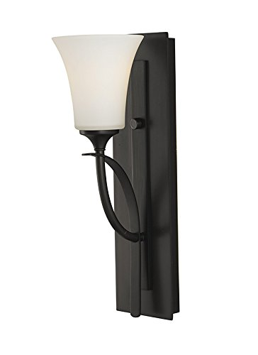 Feiss VS12701-ORB Barrington Glass Wall Sconce Lighting, Bronze, 1-Light (5