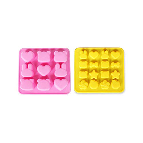 - DalaB Kawaii Rabbit Animal Head Silicone Molds for Epoxy Resin DIY Tool Flatback Bear Heart Resin Charms Mini Fox Bows Mold Craft - (Color: 16 Holes)