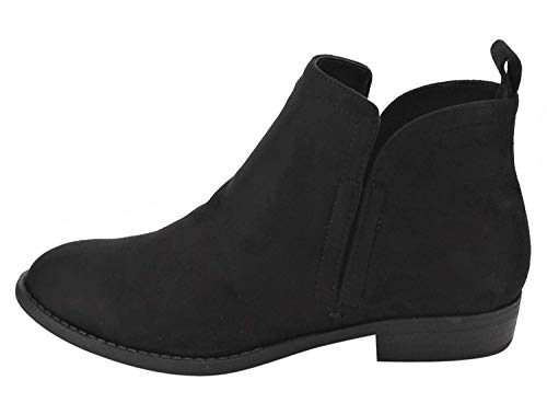 Image of City Classified Women's Elastic Gore Pull-On Flat Heel Ankle Bootie