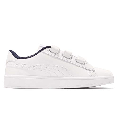 Puma Sneakers Smash v2 V Bianco Blu 366977-02 (42.5 - Bianco)