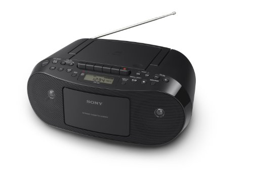 Sony CFDS50 Portable CD, Cassette & AM/FM Radio Boombox (Record Cd Cassette Radio Player)