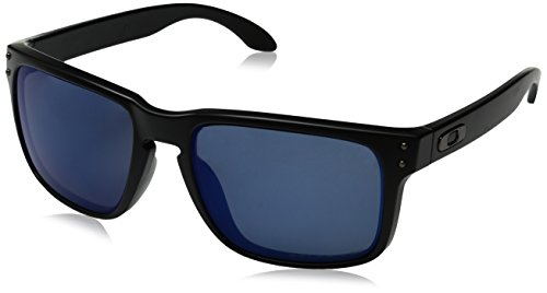 Oakley Holbrook 9102-52 Matte Black/Ice Iridium Polarized 55mm - Oakley Polarized Sunglasses Holbrook