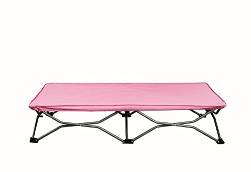 Regalo My Cot Deluxe Portable Toddler Folding Travel Bed & Sleeping Bag - Pink (Toddler Sleeping Cots)