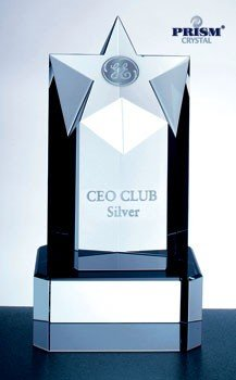 Super Star Tower Optical Crystal Award with Base - (Superstar Tower)