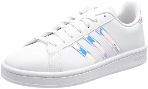 adidas Women's Grand Court Sneaker    A '70s style reborn. These women's shoes take inspiration from iconic sport styles of the past and move them into the future. The shoes are made of a durable leather-like upper with signature 3-Stripes along the sides. Plush midsole cushioning gives comfort to every step.