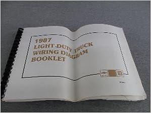1987 chevrolet light duty truck wiring diagram booklet: amazon com: books
