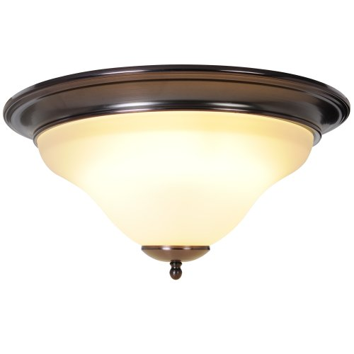 nch W by 7-5/8-Inch H Sanibel Flush Mount and Vanity Lighting, 1 Light Flush Mount, Oil Rubbed Bronze (16 Inch Width Flush Mount)