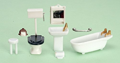 Plastic Dollhouse Furniture Miniature Lot Kit Mini Bathroom Girl Accessories New