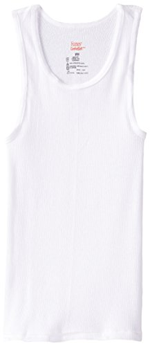 Hanes Big Boys' Tank 5-Pack, White, -