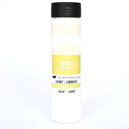 Price comparison product image Coconut+Lemongrass Shea Butter Bath Salt Fizz (Think 'Bath Bomb' In A Bottle!) Lush, Nourishing, Natural, Moisturizing & Detoxing W/ Epsom, Sea Salts & Replenishing Oils BEST SELLER!