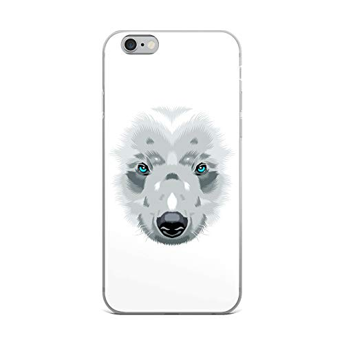 - iPhone 6 Plus/6s Plus Case Anti-Scratch Creature Animal Transparent Cases Cover Bear White Animals Fauna Crystal Clear