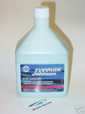 Johnson Evinrude HI-VIS Gearcase Lubricant 775605 - Johnson Evinrude Lower