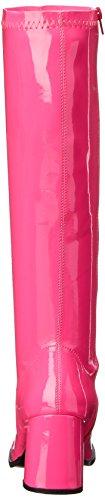 Funtasma Gogo-300UV sexy High Heels Stretch Stiefel, Komfort Heel, Neon Hotpink, 35-46 Neon-Pink