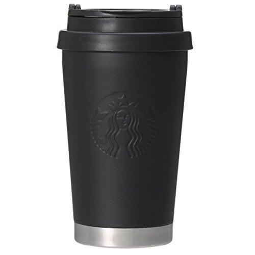 STARBUCKS 스타벅스 스타벅스 텀블러 식기 로고 진공 이중 구조 스테인레스 엠보스 가공흑 블랙 보온 보냉 심플 스테인레스 물통