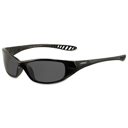 Jackson Safety 25714 V40 Hell Raiser Safety Eyewear, Smoke Polycarbon Anti-Scratch Lenses, Black - Safety Sunglasses