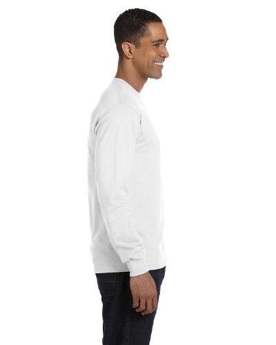 Gildan Adult DryBlend 56 oz, 50/50 Long-Sleeve T-Shirt - WHITE - XL - (Style # G840 - Original ()