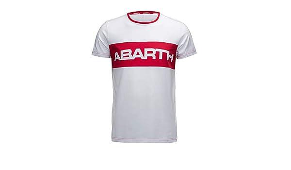 FCA Camiseta Abarth Camiseta de Color Blanco con Cuello Redondo ...