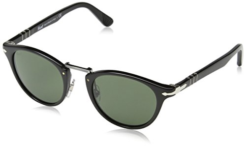 Persol 3108 95/31 Black 3108 Round Sunglasses Lens Category 3 Size - Luxottica Persol