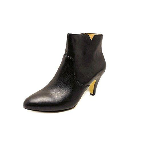 Inc Internationella Koncept Kvinna Hanah Läder Mandel Tå Ankel Mode Stövlar Svart