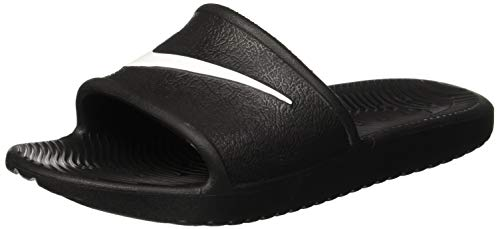 Nike Womens Kawa Sport Shower Slide Sandals Black/White (7)