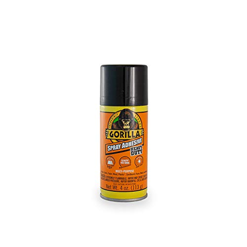 Gorilla Heavy Duty Spray Adhesive, Multipurpose and Repositionable, 4 ounce, Clear