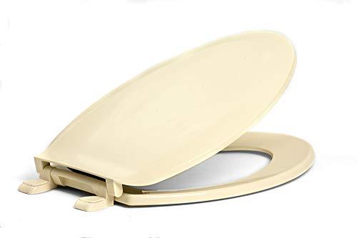 Elongated Economy Plastic Seat - Centoco 1600-106 Elongated Plastic Toilet Seat, Standard Economy Model, Bone