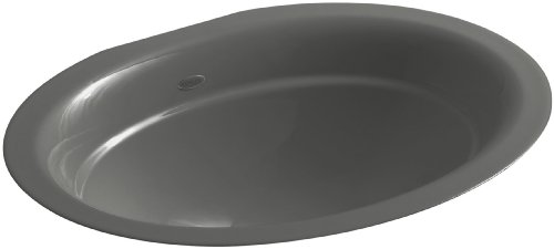 Depth Kohler Bath Sink - KOHLER K-2824-58 Serif Undercounter Bathroom Sink, Thunder Grey