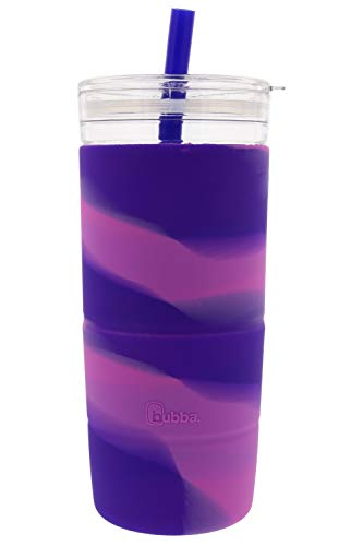 Capri Tumbler and Straw by bubba - Includes Silicone Sleeve for No-Slip Grip - 32oz - Bring with You Anywhere - BPA-Free - Odor and Stain Resistant - Tie-Dye, Boho, Purple/Paradise Style
