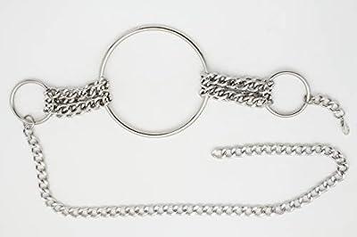 TFJ Women Dressy Fashion Silver Metal Chain Belt Hip Waist Big Ring Charms Plus Size XL XXL