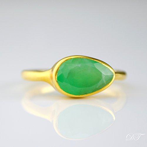 chrysoprase-ring-stackable-ring-vermeil-gold-or-silver-bezel-set-ring-teardrop-ring-mint-gree-gemsto