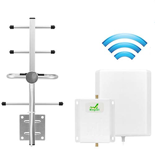 Cell Phone Signal Booster AT&T T-Mobile 4G LTE Cell Phone Signal Repeater Mobile Signal Amplifier Mingcoll 700MHz Band 12/17 ATT Cell Phone Signal Booster for Home with Panel/Yagi Antenna