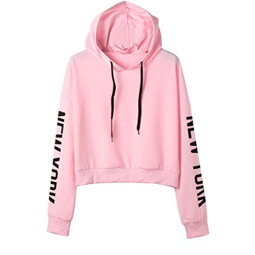 Clearance Women Tops❤️COPPEN Womens Letters Long Sleeve Hoodie Sweatshirt Pullover Tops Blouse
