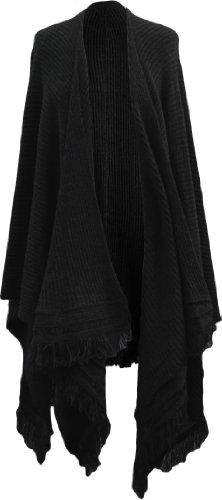 TCQstore - Poncho - capa - para mujer negro