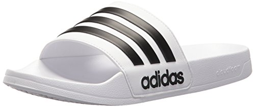 best service 0bb2f a9cfc Galleon - Adidas Men s Adilette Shower Slide Sandal Black White, 5 M US