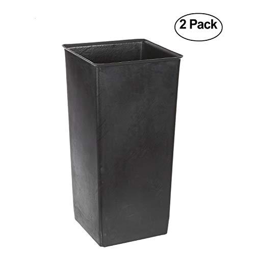 Witt Industries 13R Plastic 13-Gallon Rigid Waste Liner, Square, 11'' Width x 11'' Depth x 20'' Height, Black (2) by Witt Industries (Image #1)