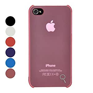 Buy Classic Ultra-thin Solid Color PC Hard Case for iPhone 4/4S (Optional Colors) , Blue