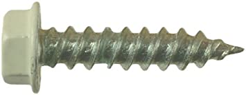 AP Products 012-TR1000 BR 08 X 1-1//2 Brown Unslotted Hex Washer Head Screw Pack of 1000