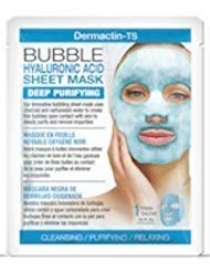 Dermactin-TS Rejuvenating Bubble Hyaluronic Acid Sheet Mask with Essential Vitamins & Nutrients (4-PACK) - Moisturizes, Soothes & Protects Skin, Leaves Skin Smooth, Radiant & Moisturized