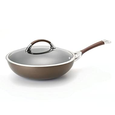 Circulon Symmetry Chocolate Hard Anodized Nonstick 12  Covered Essentials Pan