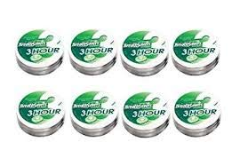 - BREATH SAVERS 3HOUR MINT SPEARMINT Can 1.27 oz Each ( 8 in a Pack )