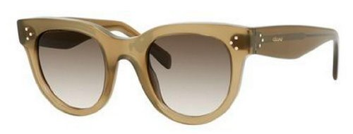 cccd8eb1d9f Celine 41053S QP4 Green Baby Audrey Cats Eyes Sunglasses Lens Category 3   Amazon.co.uk  Clothing