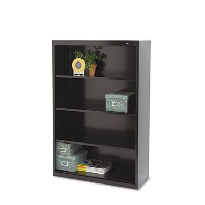 (Welded Steel Bookcase, H 52, 3 Shelf, Black B-53BK)