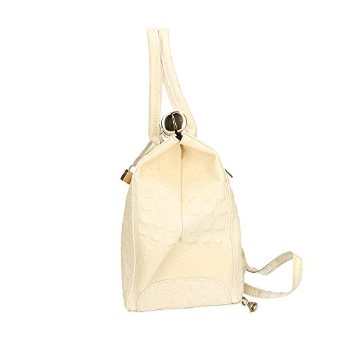 in Beige à Made véritable Aren Sac Italy en femme Cm main cuir 32x26x14 758wCq5