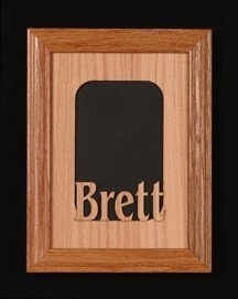 (LCI Crafts 5 x 7 Personalized Name Oak Frame Mat Any Name!Frame NOT Included)