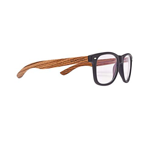 anmao Handmade PC Frame Blocking Computer Walnut Wood Sunglasses for Men or Women ()