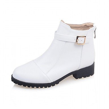 CN34 Heel US5 EU35 Zipper Office Bootie Round RTRY UK3 Wedding Women'S Boots Boots Chunky amp;Amp; Ankle Spring Toe Leatherette Fashion Booties Boots Winter For Shoes BnS1n4qwv